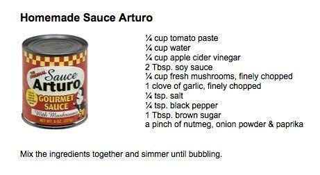 Arturo Original Gourmet Sauce with Mushrooms, (8 Oz) Cans (24)