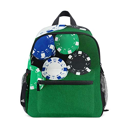 Lightweight Backpack Stack Of Poker Chips Table Travel Rucksack for School Boys Girls ()