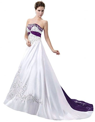 Purple wedding dresses for bride dresses for purple theme weddings purple white wedding gowns junglespirit Images