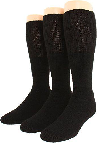 Thorlos Unisex Combat Boot 3-Pair Pack Black Large (Best Combat Boot Socks)