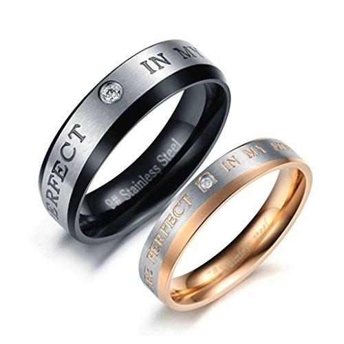 [MoAndy 2Pcs Couple Wedding Rings
