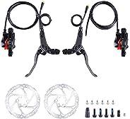 Hydraulic Brake Set Kits Power Cut Off Electric Bike Brake with 160mm Disc Brake Rotors for BAFANG BBS BBSHD M
