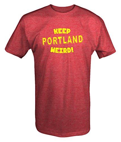 Keep Portland Weird Porltand Oregon Portlandia unisex T shirt -Medium (Ships Portland Oregon Christmas)