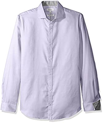 Calvin Klein Men's Dobby Twill Infinite Cool Long Sleeve Button Down Shirt