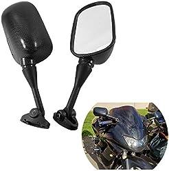 HTT Group Motorcycle Carbon Fiber Racing Mirror For 1999-2006 Honda CBR 600 F4 F4i CBR600RR//2000-2006 Honda RC51 RVT1000R//2002-2003 Honda CBR954RR