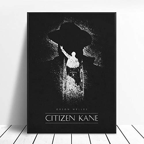 shuimanjinshan Carteles De Peliculas Clasicas De Citizen Kane Impresiones Artisticas De Pared De Seda En Blanco Y Negro Sin Marco 50X70Cm No Frame W
