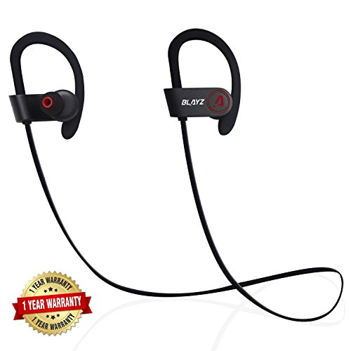 Blayz Bluetooth Sports Wireless Headphones With Microphone Silicone Earhook Headset