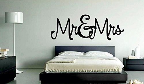 meSleep Mr. & Mrs. Valentine Design Black Wall Sticker
