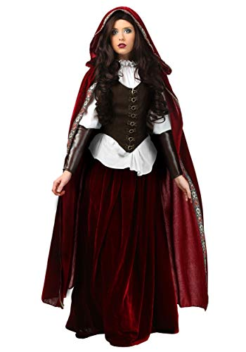 Red Riding Hood Costume for Women Deluxe Little Red Riding Hood Costume Large