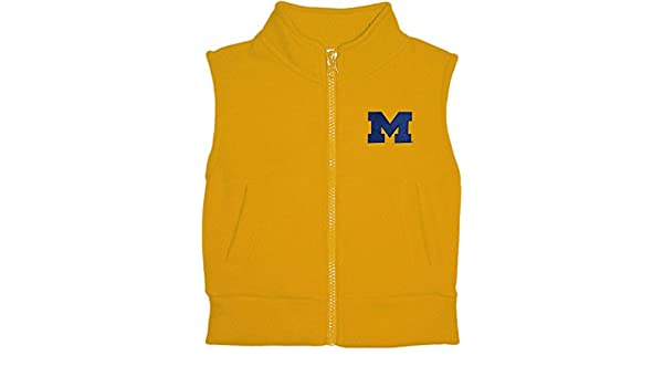 University of Michigan Wolverines Baby and Toddler Polar Fleece Vest