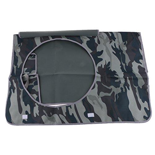 屋外 エアコンカバー 防水 防雪 エアコン 保護カバー 多色2サイズ選べる - グレーカモフラージュ, 1#