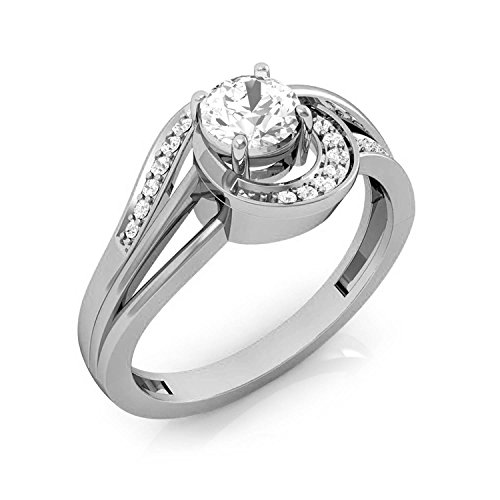0.25 Ct Engagement Ring - Panache Exports Sterling Silver Round Cut Cubic Zirconia Engagement Ring 0.25 CT