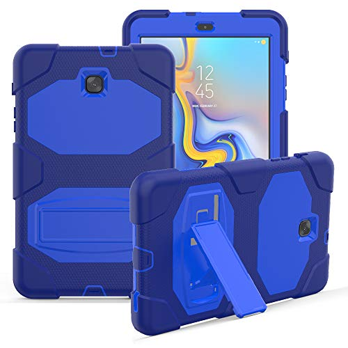 Galaxy Tab A 8.0 SM -T387 2018 Case, Rugged Kickstand Series - Shockproof Heavy Duty Hybrid Three Layer Armor Defender Kids Child Proof Case Cover for Samsung Galaxy Tab A 8.0 SM-T387- Blue