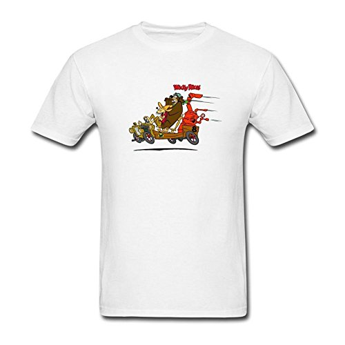 JuDian Wacky Races Cartoon T Shirt For Men