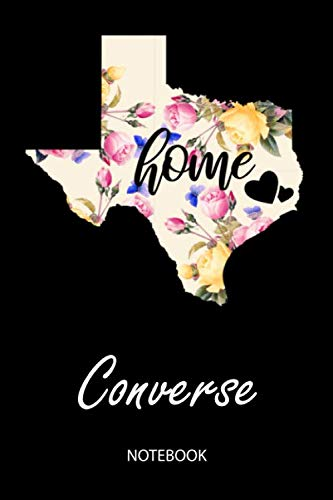 (Home - Converse - Notebook: Blank Personalized Customized City Name Texas Home Notebook Journal Dotted for Women & Girls. TX Texas Souvenir, ... / Birthday & Christmas Gift for)