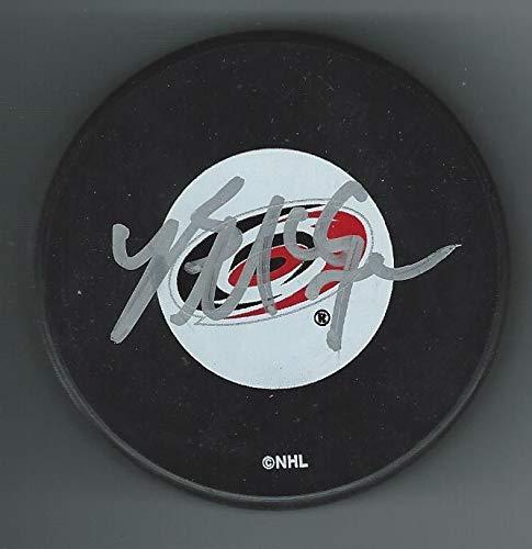 Brock McGinn Signed CAROLINA HURRICANES Puck Autographed NHL Pucks