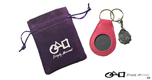 PURPLE AND PINK NA/AA Recovery Token Coin Birthday Medallion Custom Made Key Chain Sleeve Case Holder