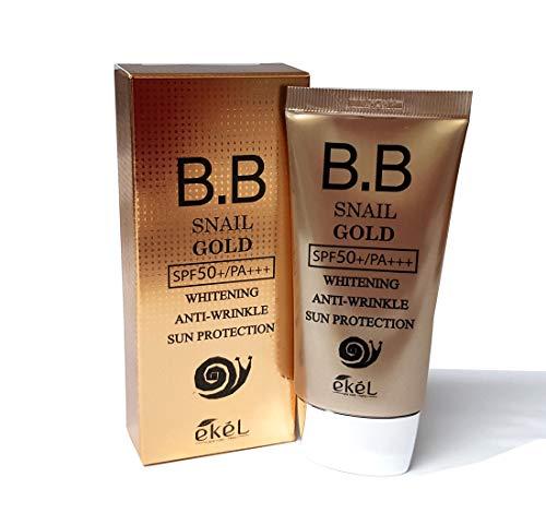 通信網軽蔑するごめんなさい[Ekel] カタツムリゴールドBB 50ml SPF50 + PA +++ / Snail Gold BB 50ml SPF50+PA+++ /ホワイトニング、UVカット/Whitening,UV protection/韓国化粧品/Korean Cosmetics [並行輸入品]