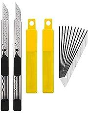 Gebildet Skärkniv i rostfritt stål med 10 x 9 mm 30 ° blad – foliekniv/foliekniv/bilskruvkniv/30 graders fräs