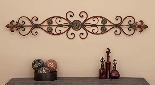 Deco 79 80052 Fleur-de-Lis and Scrollwork Classic Wall Decor