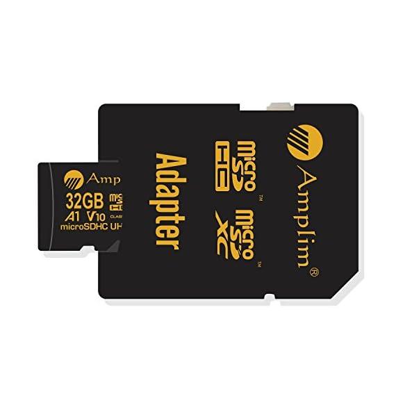 Amplim 2 Pack 32GB Micro SD SDHC TF Flash Memory Card Plus Adapter for Cell Phone, Tablet, Camera, Drone 6 CELL PHONE/TABLET COMPATIBILITY: Samsung Galaxy J2 Tab A Note8 Note 8 S8 S9 Plus S8+ Active S7 S5 S6 J7 V Max edge J5 J3 Emerge Perx E5 Prime Z4 Amp Express 2 Xcover 4 Tab S3 S2 E A Book 8.0 S2 9.7 View C7 C9 Pro A7 A5 A3 Eclipse Note5 On5 Amp 2 Halo; LG V30 V30+ V20 V10 X charge Q8 Q6 G6 G6+ G5 G4 X K8V venture Stylo 2 3 Plus Power Harmony K20 V Fortune Phoenix 3 G Pad X II F2; Amazon Fire HD, Microsoft Surface Pro 3 4; ASUS ZenFone V Live 4 Selfie Pro 3S 10 LTE Live AR 3 Zoom ZenPad Z10 Z8 Sony Xperia XZ Premium XA1 Plus Ultra XZ1 Compact L1 XZS XCompact XA Z5 M5; HTC One U11 life Desire 555 U Ultra Play 530 625 10 A9; Motorola Moto X4 G5S Plus Z Z2 Force Edition E4 Play G5 G4 Plus Bolt Droid tab MAXX 2 TURBO 2; Huawei Honor 9 7X 6C 8 Pro View 10 V10 Mate 10 Lite Y6 Pro P8 P9 Lite P10 Plus mini nova 2 Plus6A nova 2 Y7 Prime; OPPO F5 R11 F3 Plus; Xiaomi Redmi Y1 Lite Mi A1 Max 2 5 Plus Note 4X; ZTE Blade X Force Vantage Z Max XL 3 V8 Mini Lite Pro Axon M Blade Zpad Nokia 2 8 3 5 6 Alcatel IDOL 4 5 LED A7 A30 Tablet Fierce U5 HD Idol 5S A30 Plus A50 Pulsemix; BlackBerry KEYone PRIV; BLU Life One X2 Mini R1 Plus Tank Xtreme Dash L3 Vivo XL2; Razer Phone; nubia N2 N1 Lite;; ARCHOS 50 55 Graphite; FiGO Gravity; DuraForce PRO; Ellipsis 8 HD Gizmo Tab; Lumia 735 640 650 950 XL; AT&T Trek 2 HD G Pad X 8.3 8.0 F II 10.1 Lancet 626 626S; LG Exalt LTE Aristo K3 Fortune; Elipsis 10; ZTE Avid TRIO Overture Tempo X Prestige 2; Alcatel TRU FIERCE 4 ONETOUCH IDOL Revvl Plus