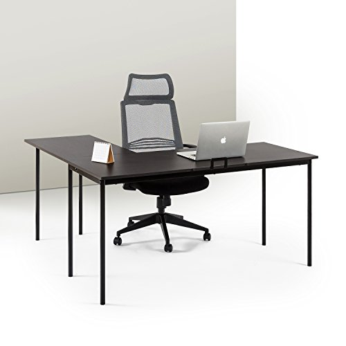 Zinus L-Shaped Corner Desk in Espresso by Zinus