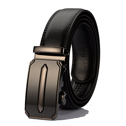"Cotton Genuine Belt (KingMoore Men's Genuine Leather Ratchet Dress Belt With Automatic Buckle (Up to 45"" Waist,)"