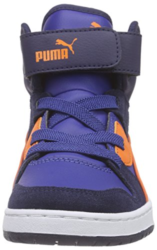 Puma Rebound Street SD Inf Unisex-Kinder Low-Top Blau (limoges-vibrant orange 07)