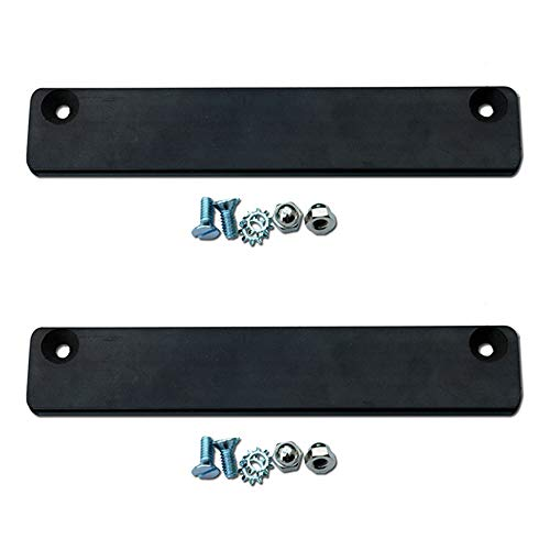 Premium Rubber Coated Magnetic License Plate Holder (2-pack Bundle) - Keep Your Demo Tag or Temp Tag Secure on Test Drives ()