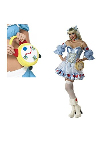 Alice Rebel Toons Woman Costume And Alarm Clock Purse (Large) (Rebel Toons)