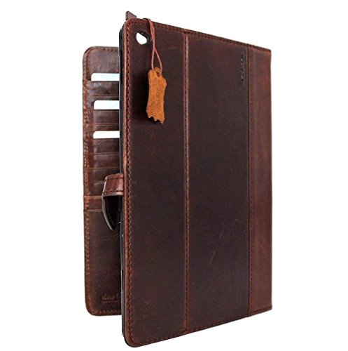 Genuine Vintage Leather Handmade Casr for Samsung Galaxy Tab S 10.5 LTE Cover Book Stand Luxury Credit Cards Slots DavisCase by Davis