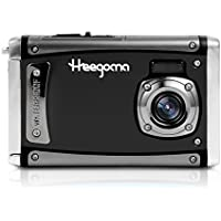 Heegomn Ditigal Camera Ultra HD 24M Resolution Waterproof Camera 2.4 LCD Video Camera with Wide Angle Len, Black