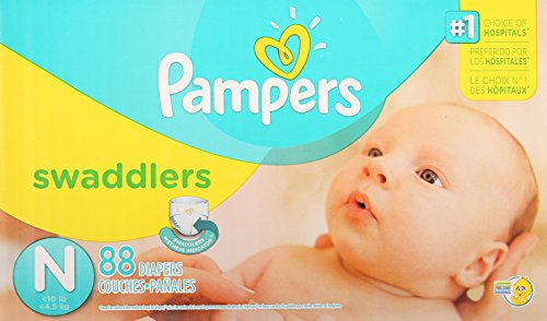 Pampers Swaddlers Diapers Size N Super Pack, 88 Count