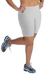 Women\'s Plus Size Cotton Bike Shorts - White - 2X