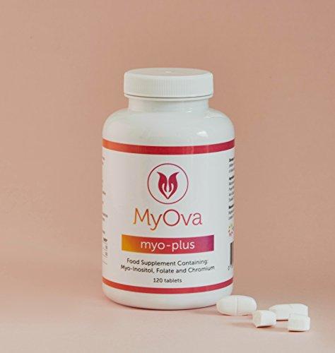 MyOva Myo-plus - Suplemento natural para síndrome de ovario poliquístico (SOP) - 4000 mg mioinositol, 200 µg folato, 100 µg cromo - 120 cápsulas: Amazon.es: ...