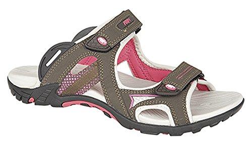 Mesdames PDQ Marron/Rose Velcro Sport Adventure Sandales tailles 345678