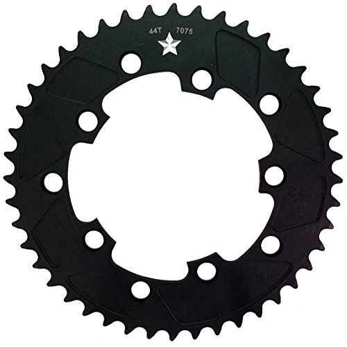 USAMade 110mm & 130mm BCD SharkTooth PRO CXR1 5-Bolt CXR Cross/Fixie/Road Chainring Made in USA (44 Tooth 1/8