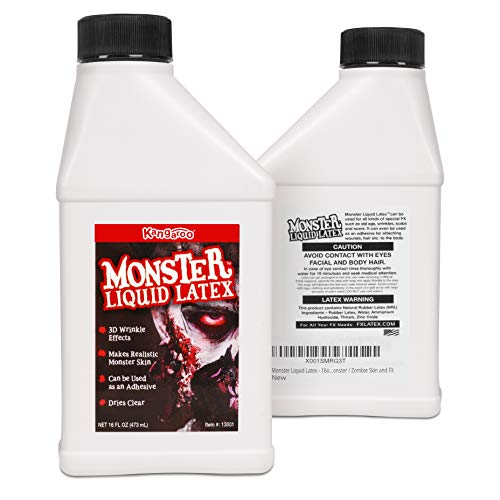 Kangaroo's Monster Liquid Latex - 16oz Pint - Creates Monster / Zombie Skin and FX -