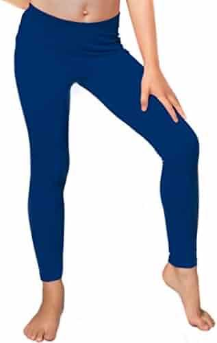 Stretch is Comfort Cotton, Metallic And Rhinestone Girl's Footless Leggings