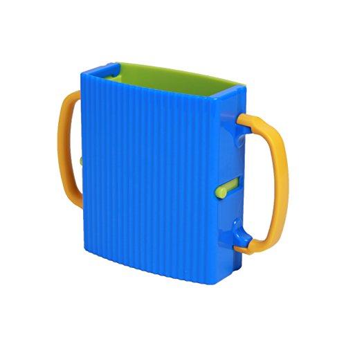 Helper Juice Box - Juice Box Holder, Baby Kids Toddler Self-Helper, Adjustable, Easy to Use (Blue)
