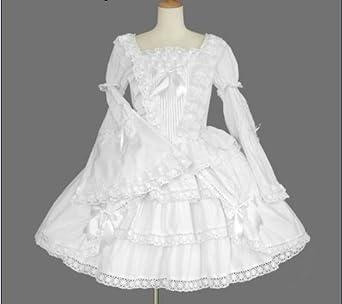 352b93342 ゴスロリィタ Lolita ロリータ服 衣装 洋服 COSMAMA LLTLZY0047 ホワイト 袖の取り外しが可能 長袖・