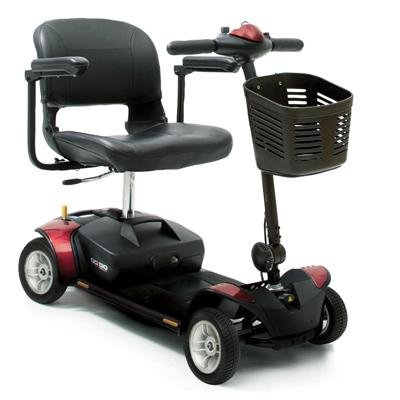 Portable Mobility Scooter - Pride Go Go Elite Traveller 4 Wheeled - 12 amp batterry