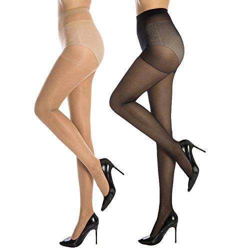 UPC 713803808789, Manzi Women's 20 Den Sheer Toe Control TopPantyhose(2 Pairs), Multicoloured, Large