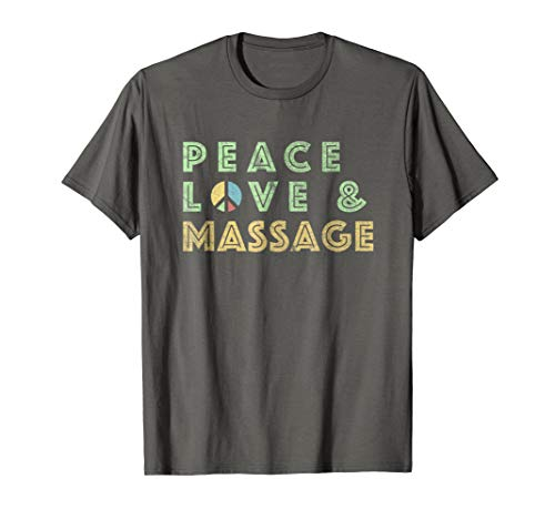 Peace Love Massage T-Shirt Gift-Massage Therapy Shirt (Massage Therapy Shirts)