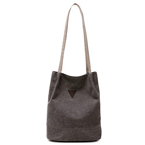 XMLiZhiGu Canvas Bag Fashion Shoulder Bag Casual Travel Handbags Tote Shopping Bag for Women Girls Gray
