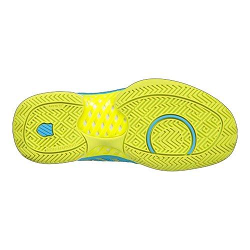 K-swiss Womens Hypercourt Express-w Scarpa Da Tennis Aquarius / Bianco / Neon Citron