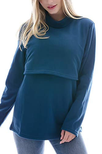 Infermieristica Donna Blusa Top Allattamento Maniche Inverno Blu Lunghe Scuro Smallshow 0BwdPW60