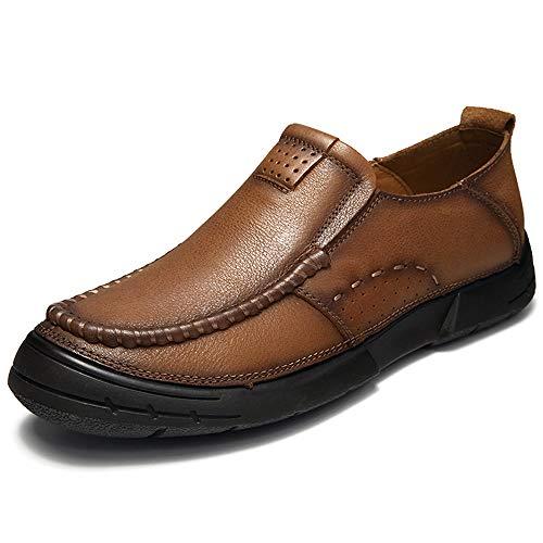 piatto Marrone 41 a in On da lavorata EU uomo Color Scarpe mano pelle vintage Marrone Scarpe da Oxford Slip Dimensione Ofgcfbvxd lavoro casual xRUE4
