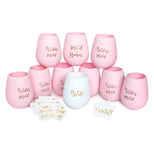 Bachelorette Party Silicone Wine Cups - Set of