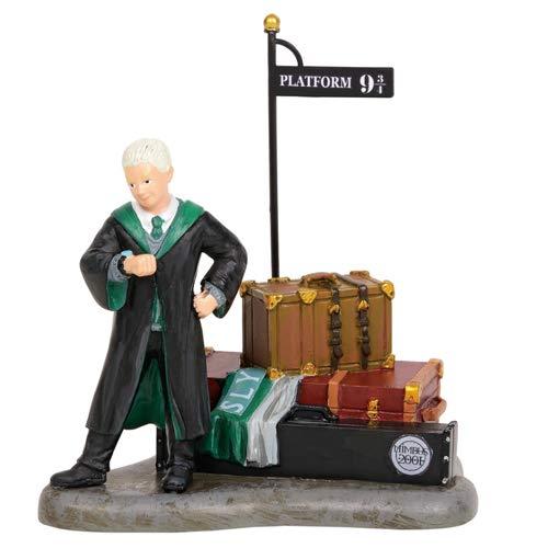 Department 56 Harry Potter Village Draco Waits At Platform 9 3/4 Village Figures, 3.45''